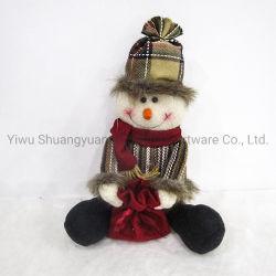 눈사람 인형 크리스마스는 인형 크리스마스 잠옷 Babie 크리스마스 인형을 장식한다