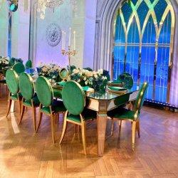 Sawa nouvel hôtel moderne de meubles Table à manger en acier inoxydable