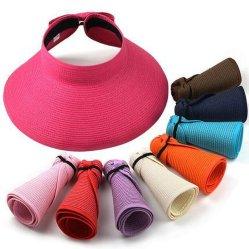 حماية الأشعة فوق البنفسجية واقي الشمس ضوء الشمعة قابل للطي قابل للطي قبعة القش العروس