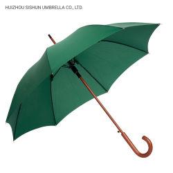 Paraguas automático PARAGUAS paraguas Windproof recta mango de madera paraguas personalizados