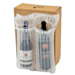 منع تسرب العمود الهوائي الواقي القابل للانتفاخ في زجاجة نبيذ Cالفقمة تغليف مخزن لتخريد اللف للحقيبة