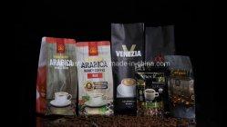 Verpakkende Zak van de Plastic Zak van de Opslag van het Voedsel van de Spaanders van de Koekjes van de Thee van de Klep van de Bodem van het Blok van de Koffie van de Rijst van de Ritssluiting van de aluminiumfolie de Vacuüm Veilige
