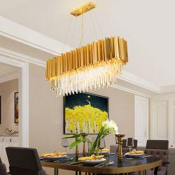[كلينر] [كريستلّليوشتر] فندق عرس صنع وفقا لطلب الزّبون مربّعة حديثة واضحة بلّوريّة درج ثريا مدلّاة ضوء