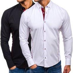100% Coton T-Shirt pour hommes d'affaires Bouton vers le bas Manchon long