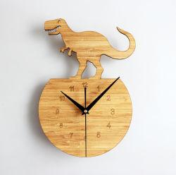 Orologio di parete di legno di bambù naturale