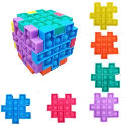 3.9인치 팝 재그톱 스트레스 해저버 스퀴즈 빌딩 블록 토이즈