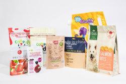Биоразлагаемые печатаются на молнию Zip-Lock Ziplock встать крафт-бумаги торгового пластиковой упаковки продуктов для приготовления чая и кофе для уборки риса табачной упаковки Bag