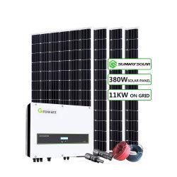 Комплект для использования солнечной энергии в коммерческих целях на сетке 10квт 11квт 12квт панели солнечной системы Grid