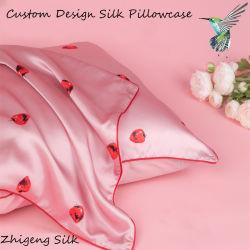 Custom 100 % soie oreiller 16mm/19mm/22mm/25mm Mulberry organiques oreiller en soie de cas de patinage