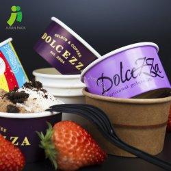Isqueiros de sorvete Taça de papel iogurte congelado a capa de papel
