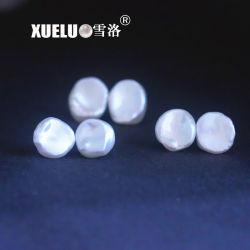 方法イヤリングの宝石類の純銀製のKeshiの白によって培養されるバロック式の淡水の真珠のイヤリング