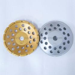 """M16 M14 5/8 """" - 11の機械のための7/8の""""コネクターの具体的なダイヤモンドの粉砕車輪の熱い出版物によって焼結させる二重列の単一の列のターボコップの車輪"""