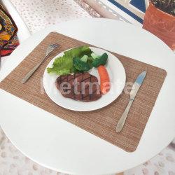 Patio facile Placemats esterno di plastica lavabile di cura per la tavola rotonda