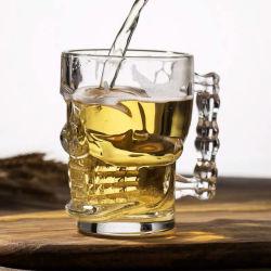 Le crâne de cristal de la tête de la Verrerie 500ml 16oz cuvette en verre de vin de l'eau potable avec poignée chopes en verre de bière