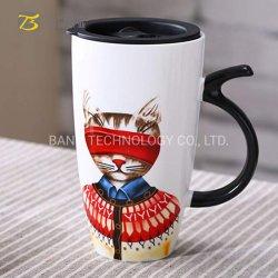 [600مل] [لرج كبستي] خزفيّة شاي قهوة قطع جذّابة مع تغطية [600مل] خزف إبريق من الصين