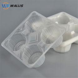 Six jetables Compartiment contenant tarte transparent d'oeufs peuvent être recyclés PP Pet PS plastique PVC conditionnement sous blister