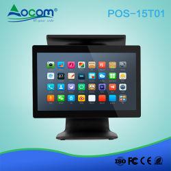 15 インチ 10 ポイント静電容量方式タッチスクリーンデスクトップをすべて搭載 Android POS × 1