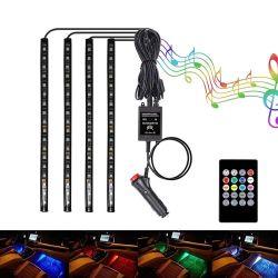 Sfeer autoverlichting Autosfeer licht RGB Remote Interior 5050 Decoratieve LED-strip sfeerverlichting voor in de auto