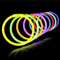 Misturar cores personalizadas de emergência LED Glow Sticks Festival Evento coloridos Concert Colares luz néon Stick