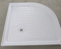 Sally Cupc quadrant de base de douche en acrylique avec renfort en fibre de verre Surface solide 1025*1025*76mm