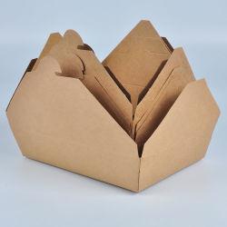 전자렌지로 사용 가능한 크래프트 백서 음식 포장 테이크 아웃 컨테이너 인쇄 중
