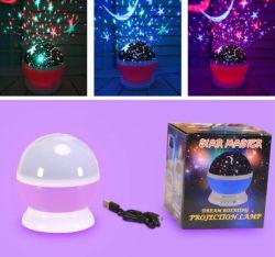 Decoração LED Projector Lua Rotativa Fase Nightfor Star