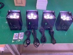 Iluminación de la boda de entretenimiento 6pzas*18W de luz PAR LED inalámbrico