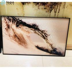 La pintura de vidrio con las olas oceánicas dibujo para la Decoración de pared (MR-YB6-2040)