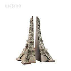 Geplaatste de Boekensteunen van de Toren van Eiffel - Het Standbeeld van het Tafelblad van het Messing