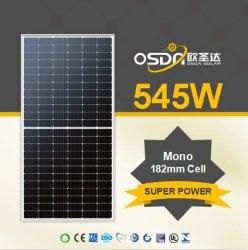 Super High Power 535W 540W 545W 550W Jinko Canadian Trina Half Cell PERC 144 Cells 9Bb módulo solar PV Monocristalina Panel con 182mm celdas