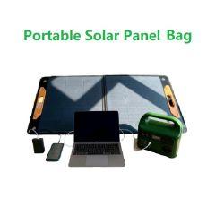 شاحن لوحة شمسية قابل للطي بقدرة 5 فولت تيار مستمر 12 فولت بقدرة 120 واط قابل للبوليتَين شاحن اللوحة الشمسية