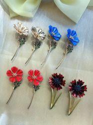 Популярные Pearl PIN Brooch Оптовая Custom Flower Brooch PIN Crystal Женщины Брох в бестарном