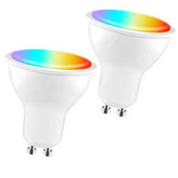 Iot WiFi Smart LED GU10 Spotlight RGB CCT Spot lámpara 5W