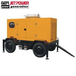 トレーラー100kVA 80kwの車輪が付いている無声ディーゼル発電機セット