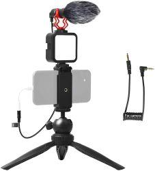 iPhone/iPad/YouTube/GoPro/초보자를 위한 YouTube Vlog 카메라 액세서리 키트 홈 및 커머셜 셀카 동영상