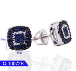 Groothandel New Model Hip Hop Jewelry Sterling Silver Screw Back Cz Stone Oorbellen Voor Mannen