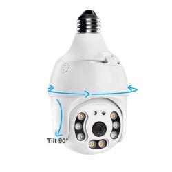 Toute nouvelle 3MP Tuya Auto-Tracking sans fil E27 porte-lampe ampoule WiFi caméra PTZ