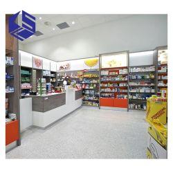 Gostavas de farmácia moderna decoração de loja de madeira de equipamento de demonstração do contador de mobiliário de design de interiores