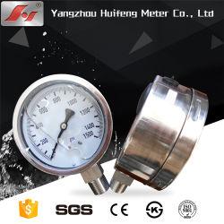 Contact électrique de la glycérine remplis d'huile de silicone de l'oxygène Jauge de pression en plastique