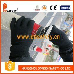Черный с черным мини-ПВХ точек безопасности рабочие перчатки