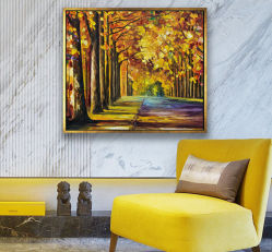 3D, huile sur toile lenticulaires de forêt