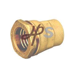 Macho de latón unión recta para tubo de HDPE