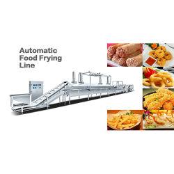 Kontinuierliche automatische Gas-Manioka schneidet Kinn-Kinn-Nuts Fisch-Riemen-Bratöl-filternmaschinen-Kartoffel in Stücke