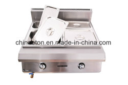 Ce gaz en acier inoxydable Counter-Top Bain-marie pour la cuisine transportant Et-Tsrqtc