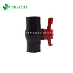 Soupape de PVC clapets à bille de forme octogonale en plastique avec joint de siège en téflon