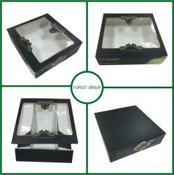 Ясная коробка торта бумаги черноты окна PVC