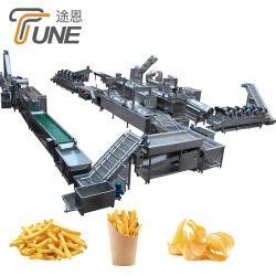 La pomme de terre frites lavage Peeling la ligne de production d'emballage de pesage de coupe
