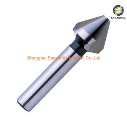 DIN334c 금속 깔깔한 면을 자르기를 위한 원통 모양 정강이 60 정도 3 플루트 HSS 둥근 홈 구멍 파는 송곳 드릴용 날