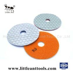 Pulsa flexible Pad para pulir en seco de diamante de piedra de cuarzo