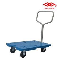 150kg Karretje van het Platform van de Vrachtwagen van de Hand van het pakhuis het Vouwbare Plastic